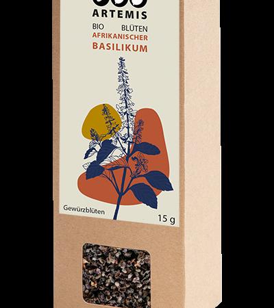Artemis_Bio Hof Haas_Bio Gewürze afrikanischer Basilikum Blüten_Packung